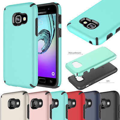 ShockProof Armour Rugged Hybrid Cover & Film Case for Samsung Galaxy A3 A5 2017