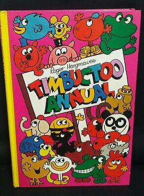 Vintage 1979 Timbuctoo Roger Hargreaves Annual Hard cover book 1970's