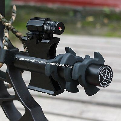 Tactical CNC 20mm Picatiny Rail Bow Stabilizer Mathews PSE Hoyt & Red Dot Laser