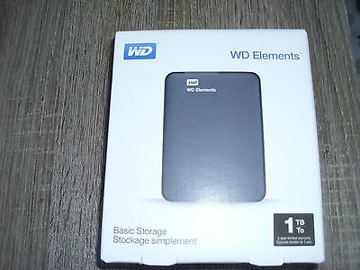 disque dur externe 2.5  1To ( 1000go ) usb3  compatible usb2 Western Digital