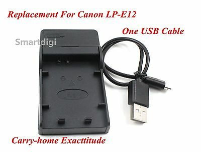 New USB Battery Charger for CANON LP-E12 LPE12 EOS M M2 100D AU Seller