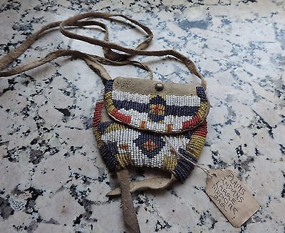 Beautiful Cheyenne or plains beaded medicine pouch