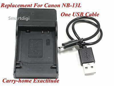 New USB Battery Charger for CANON NB-13L PowerShot SX720 G5X G7X G9X AU Seller
