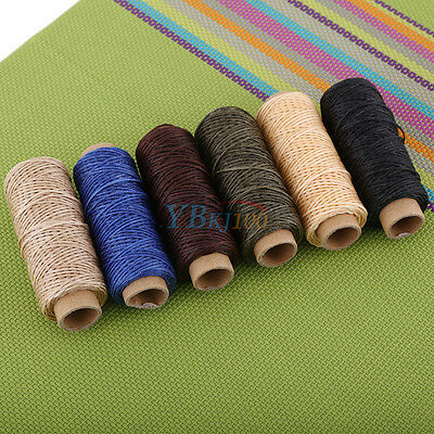 50M 150D 1mm Leather Sewing Flat Waxed Thread Wax String Hand Stitching Craft