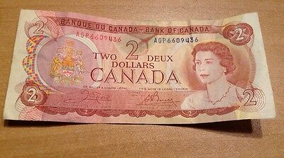 1974 - Canada $2 Bank Note - Canadian Two Dollar Bill - 2 Deux  - AGP6609436