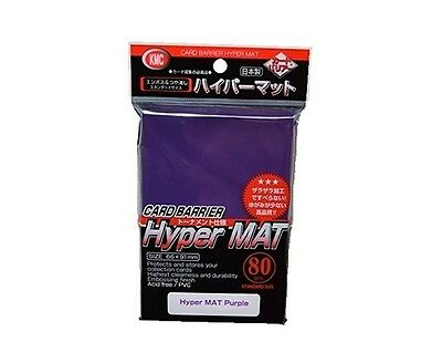 KMC Hyper Mat Purple Card Sleeves 1 Pack 80pcs from Japan