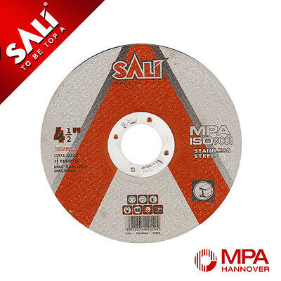 """600x SALI Thin S/Steel Cutting Discs 115mm for 4½"""" Angle Grinder MPA Approved"""