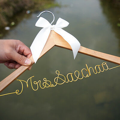 Personalized Wedding Hanger, Bridal Hanger, Bride Bridesmaid Name Hanger Gift NG