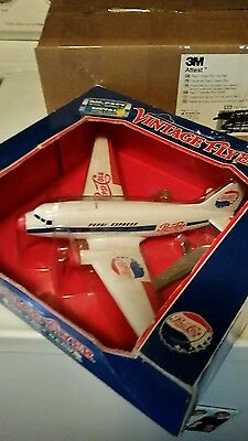 Pepsi Vintage Flyer Airplane Bank Diecast Metal Stand Key NIB Collection