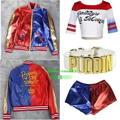 Cosplay Suicide Squad Harley Quinn Daddy's Coat Lil Monster Jacket Tee Shirt Lot