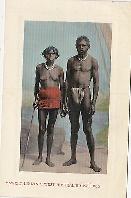 VINTAGE POSTCARD SWEETHEARTS WEST AUSTRALIAN NATIVES  W.A. 1900s