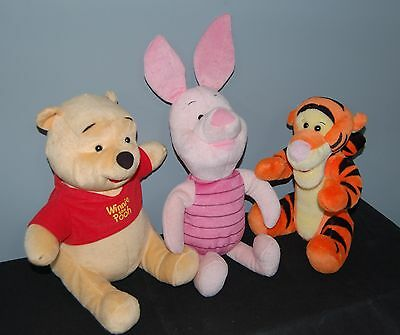 Winnie The Pooh Soft Toy Characters POOH PIGLET TIGGER