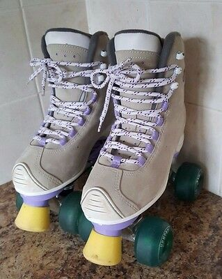 SFR Roller Skates Quad Size 4 in Beige and Lilac - Great condition
