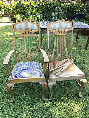 Oak Carver Chairs for restoration.