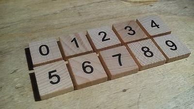 Wooden Craft Number Tiles 0-9