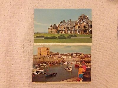 2 Postcard of old Porthcawl The Harbour and Rest Convelescent Home