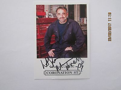 Michael Le Vell, (Coronation Street) Hand Signed Cast Card