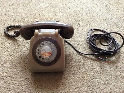 Vintage Retro Gpo Rotary Dial Two Tone Telephone - Not Converted