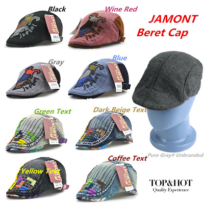 JAMONT Autumn Winter Cartoon Animal Printed Children Boys Girls Beret Cap Hat GT