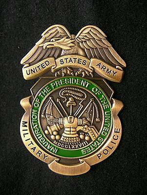 US Military Army Police Copper Medal Pin Badge Brooch Cosplay Props Collection