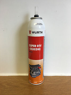 WURTH SUPER RTV SILICONE 200ml BLACK CAMSHAFT BEARING AND GEAR COVERS SUMP ECT