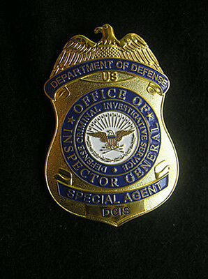 1Pc US DCIS Special Agent Copper Medal Pin Badge Brooch Cosplay Props Collection