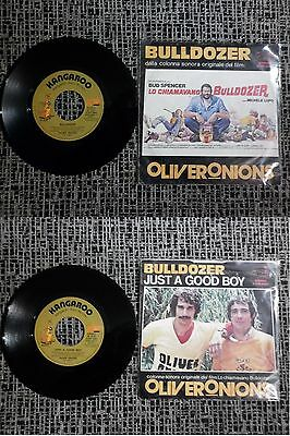 """OLIVER ONIONS """"BULLDOZER / JUST A GOOD BOY"""" 1978 Made in Italy Bud Spencer Italo"""