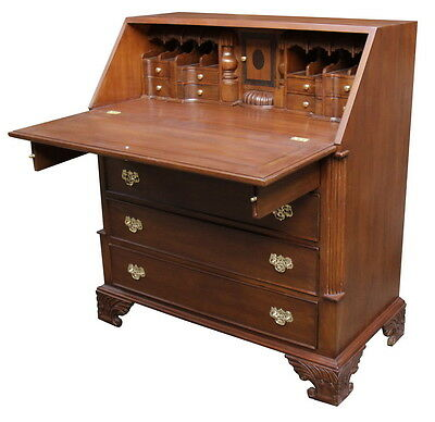 Solid Mahogany Large Georgian Bureau Desk Antique Reproduction DSK021 NEW
