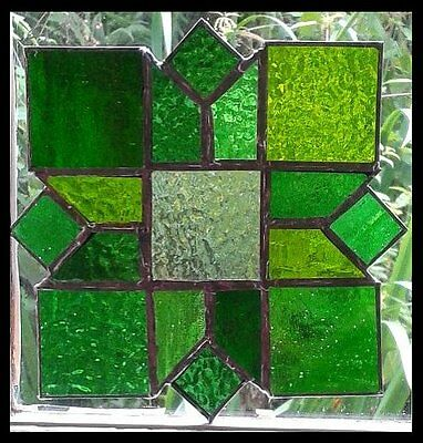 VICTORIAN STYLE STAINED GLASS PANEL. Handmade by The Stained Glass Panel Studio.