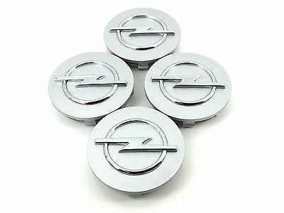 4 x Genuine New 60mm OPEL WHEEL CENTRE CAPS Vauxhall Corsa Astra Tigra Meriva