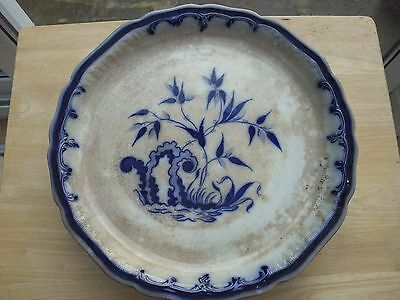 Antique Blue and White Meat Plate