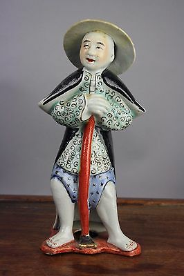 19th/20th C. Chinese Famille-Rose Porcelain Figure