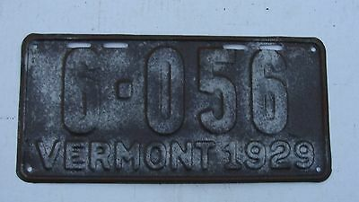 1929 Vermont License Plate # 6-056