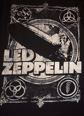 Led Zeppelin Band T-Shirt Hindenburg Disaster   Size XL   Anvil   Free Shipping