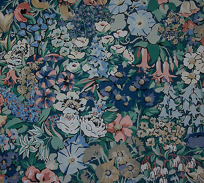 vintage Liberty Cottage Garden floral print cotton interiors fabric