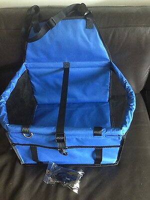 Folding Dog Travel Booster Bag Cat Puppy Pet Car Front Seat Safety Carrier HG