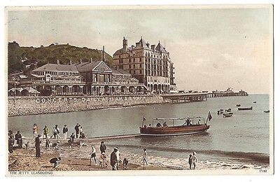 LLANDUDNO The Jetty, Old Postcard by GR Thompson Postally Used c1938