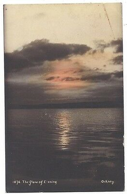 ORKNEY The Glow of Evening, Old Postcard by HH Camburn Postally Used 1907