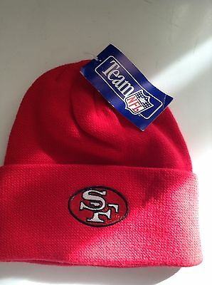 Men's Collegiate NFL San Francisco 49ers Lic Over Cuff. Knit Beanie One Size