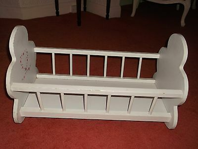 Wooden Doll's Cot/Cradle