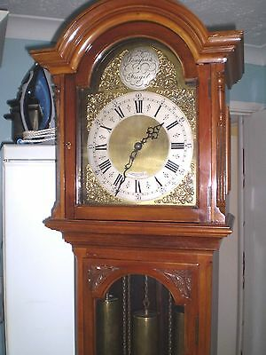 A chiming Grandfather clock by Bravingtons of Kings Cross & Ludgate Hill London.