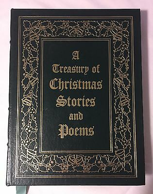 A Treasury of Christmas Stories and Poems THE EASTON PRESS Leather Book