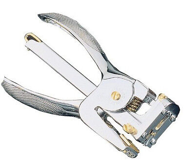 El Casco Stapling Plier in Chrome and Gold