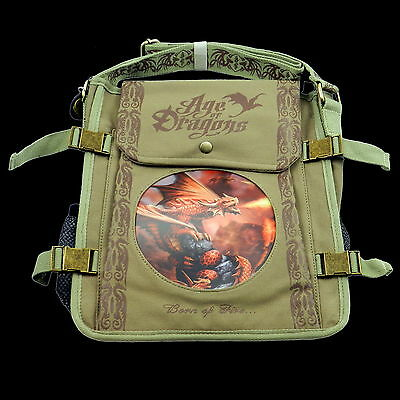 *FIRE DRAGON* Anne Stokes Age Of Dragons 3D Lenticular Gothic Art Shoulder Bag