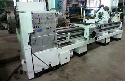 "5 3/4"" Spindle Bore, Polamco TUR-63A, 25"" X 120"" Engine Lathe, w/Taper Attachmnt"