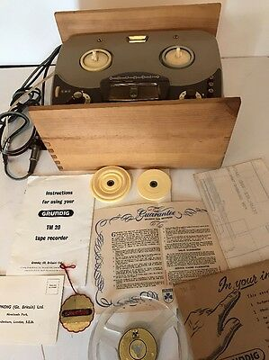 Grundig Tm 20 - Reel To Reel Tape Recorder + Original Box
