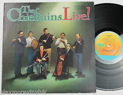 THE CHIEFTAINS Live LP UK 1977 Island ILPS9501 plays EX!
