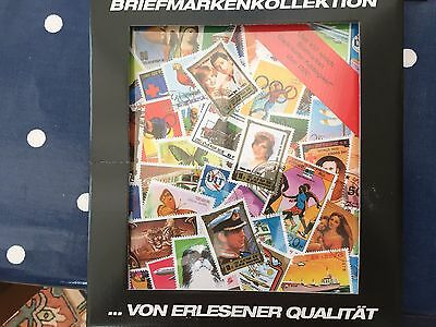 World sealed retail packet with 450 different stamps cat value 1000 DM