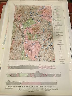 Geology Quadrangle New Hampshire Color Map  Monadnock