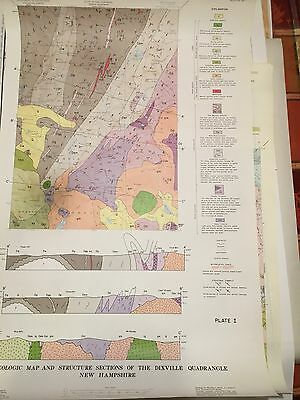 Geology Quadrangle New Hampshire Color Map  Dixville